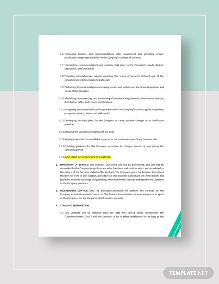 Business Consulting Contract Download