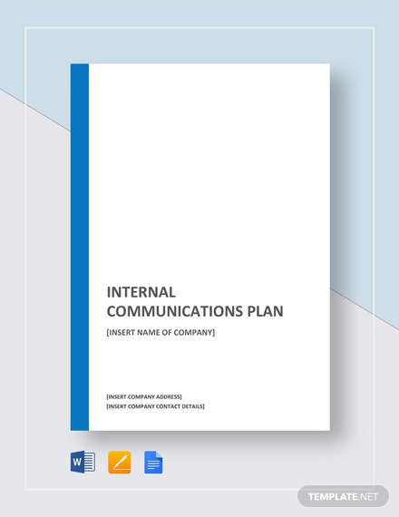 Internal Communications Plan Template