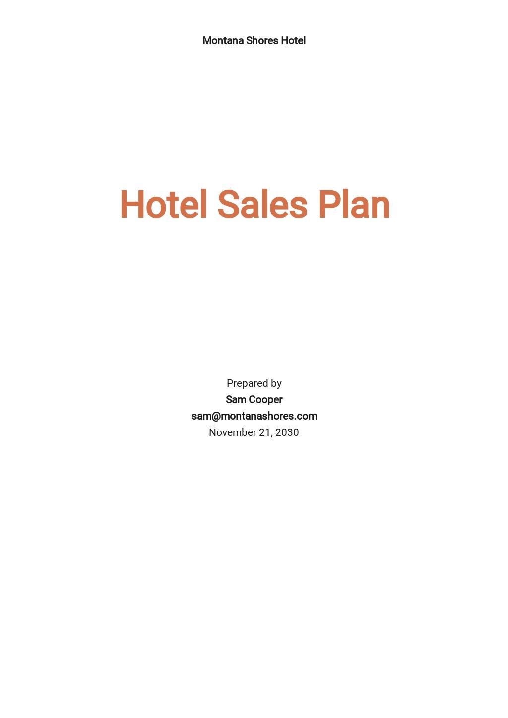 Hotel Sales Plan Template.jpe
