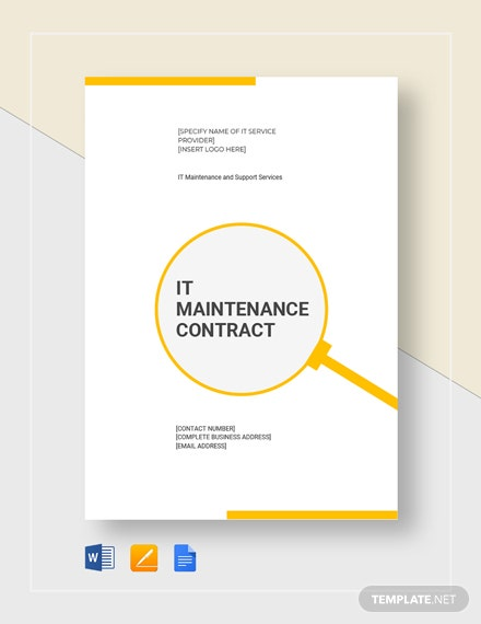IT Maintenance Contract Template