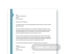 Appointment Letter Template for Teacher