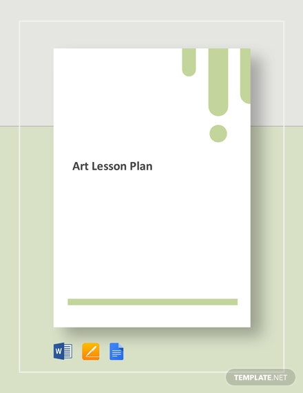 Art Lesson Plan Template - Word | Google Docs | Apple Pages