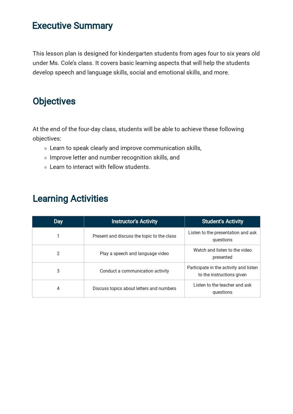 Kindergarten Lesson Plan Template 1.jpe