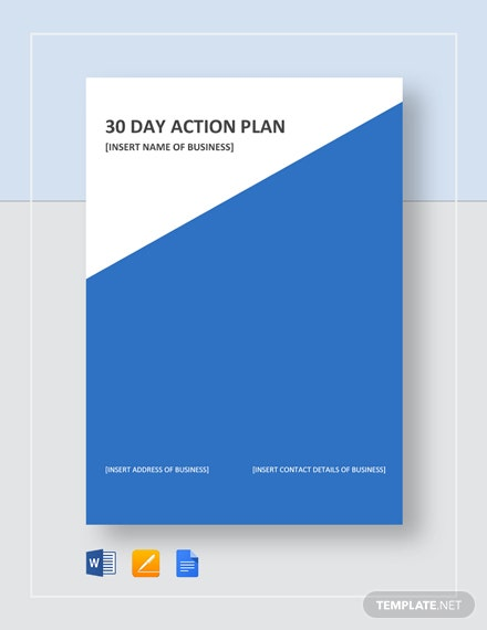 30 Day Action Plan Template