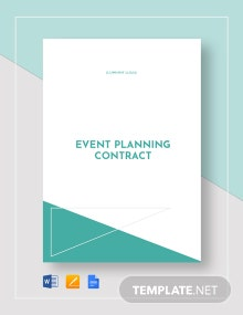 Event Planning Contract Template