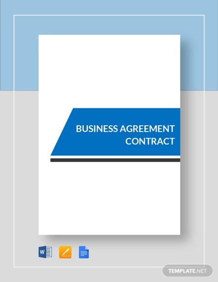 Business Agreement Contract Template
