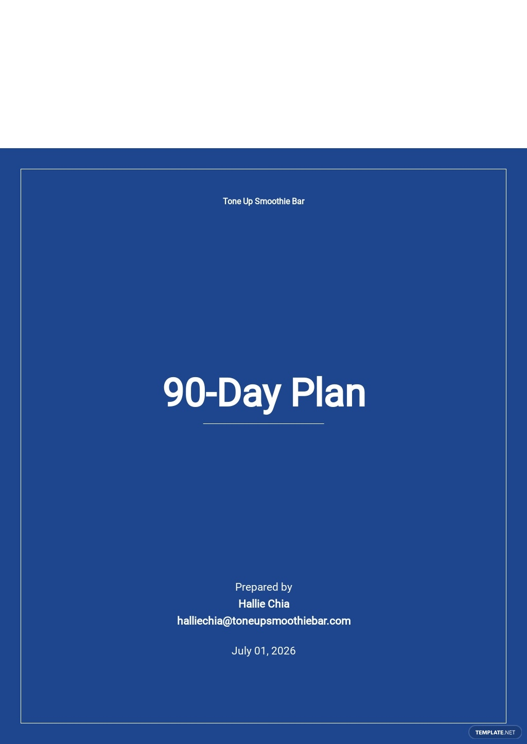 90-Day Plan Template