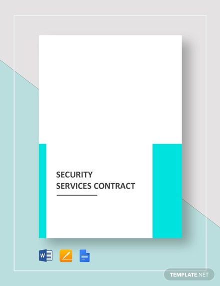 Security Services Contract Template