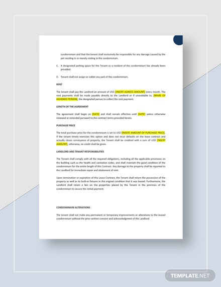 Lease to Own Contract Download