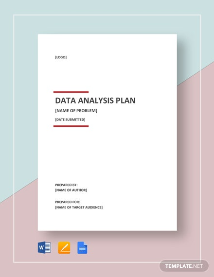 Data Analysis Plan Template