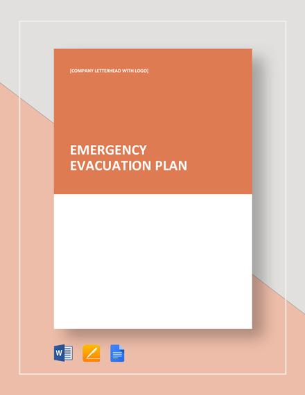 Emergency Evacuation Plan Template