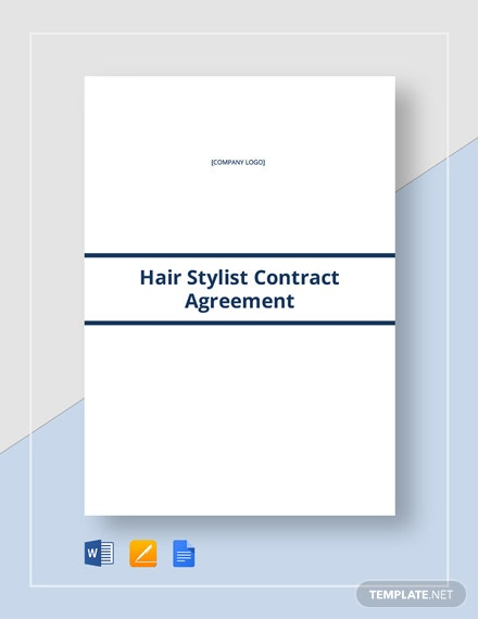 Hair Stylist contract Template