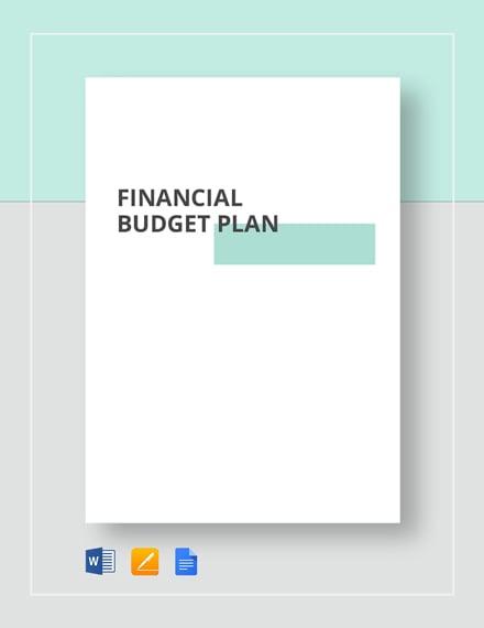 Financial Budget Plan Template