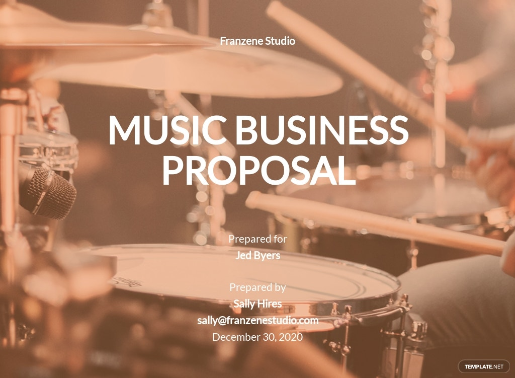 Music Business Proposal Template [Free PDF] - Google Docs, Word, PSD, PDF