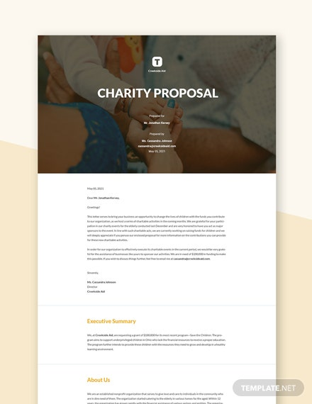 Editable Charity Proposal Template