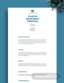 Startup Investment Proposal Template