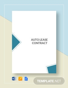 Auto Lease Contract Template