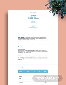 Cost Proposal Template