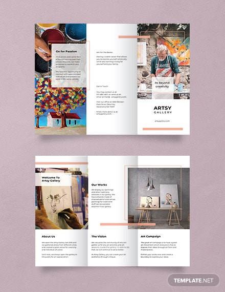 Free Creative Tri-Fold Brochure Template