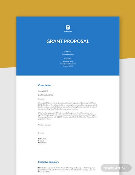 Grant Proposal Template