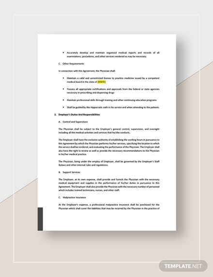 Physician Employment Contract Download