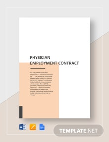 Physician Employment Contract Template