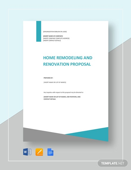 Home Remodeling and Renovation Proposal Template