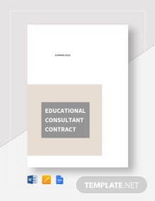 Educational Consultant Contract Template