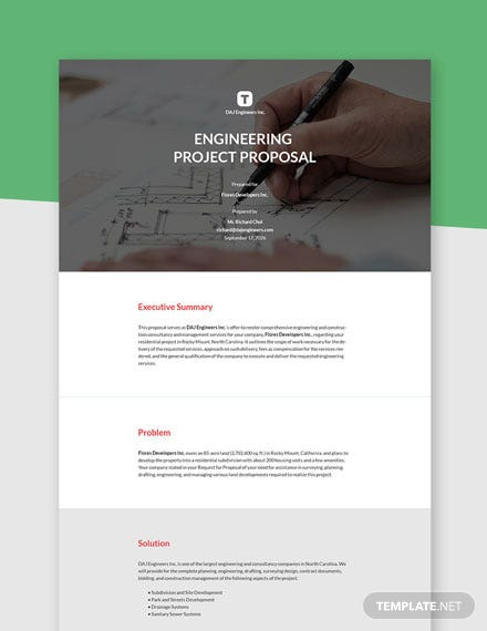 Engineering Project Proposal Template