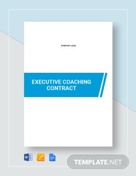 Executive Coaching Contract Template