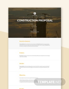 Construction Project Proposal Template
