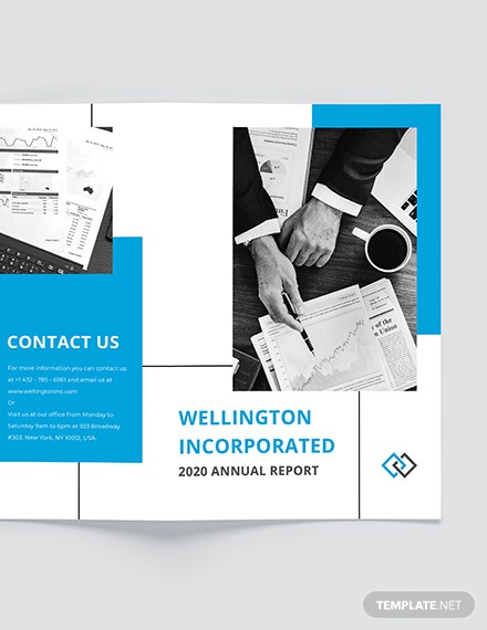 Sample Annual Report BiFold Brochure