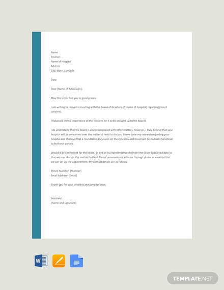 Free Hospital Appointment Letter Template