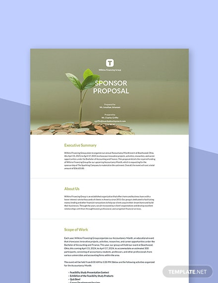 Sponsor Proposal Template