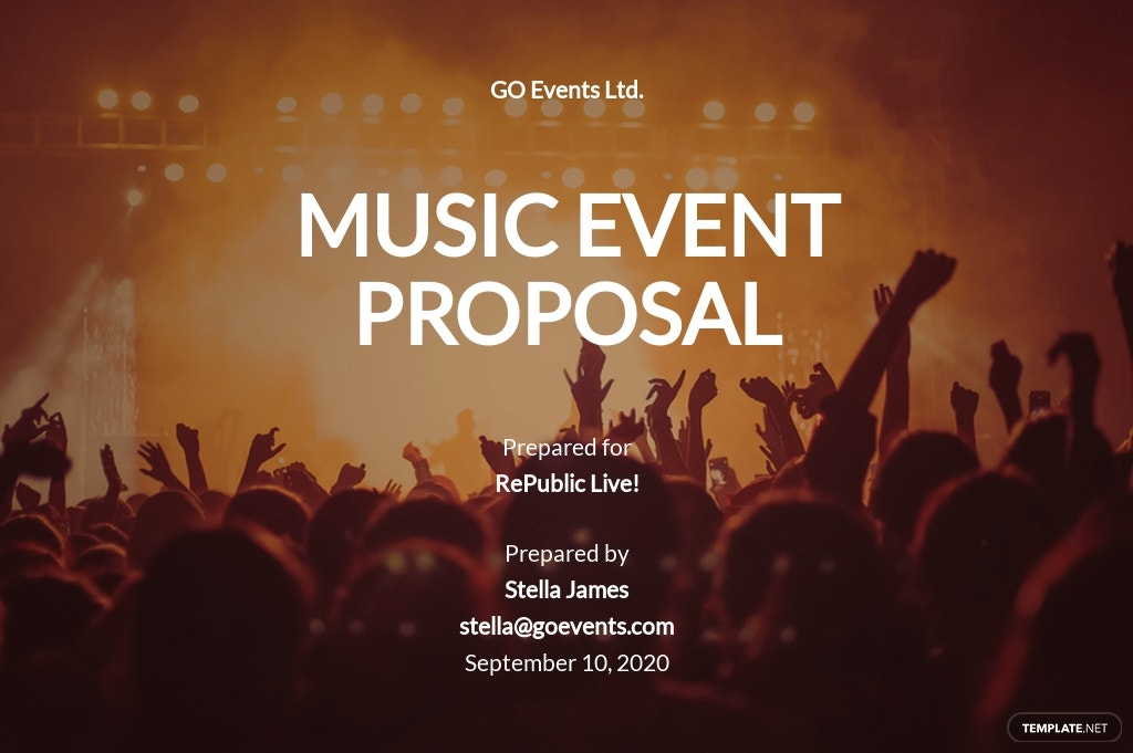 FREE Music Event Proposal Template - Google Docs, Word, Apple Pages