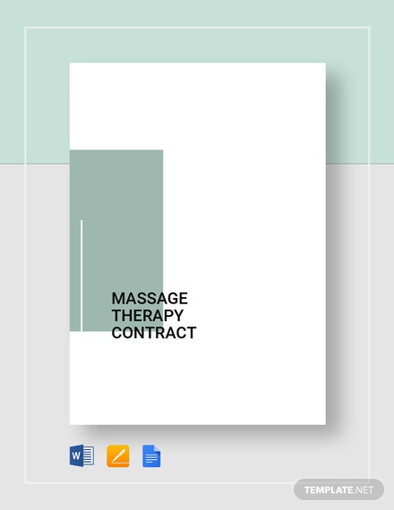 Massage Therapy Contract Template