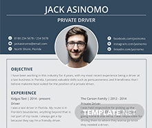 Free Driver Resume Template