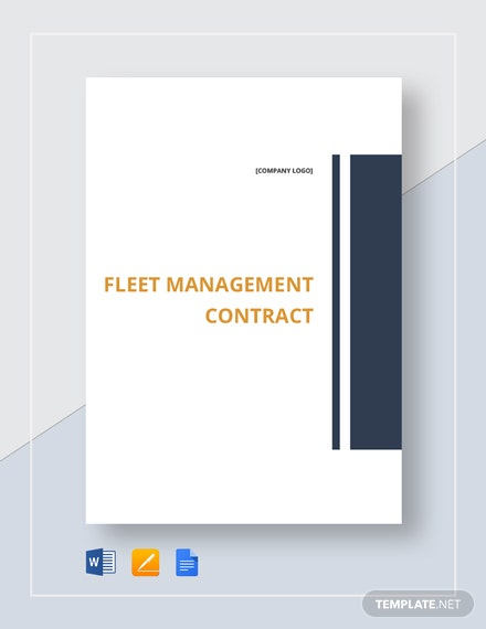 Fleet Management Contract Template