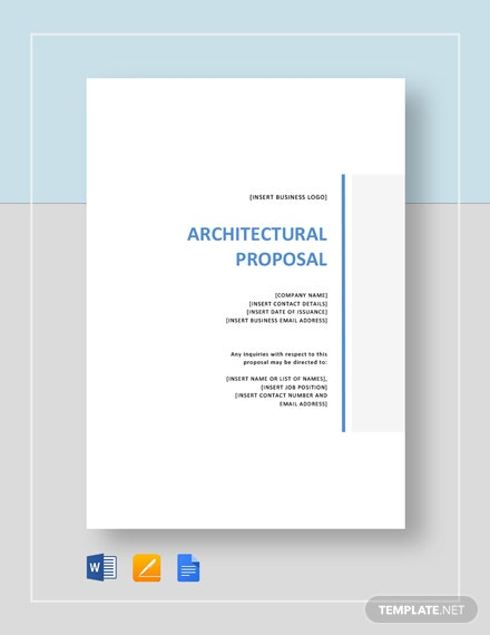Architectural Proposal Template