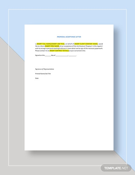 Architectural Proposal Template Download 10 Proposals In Microsoft