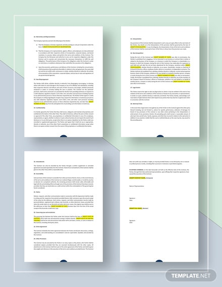 Simple Work Agreement Contract