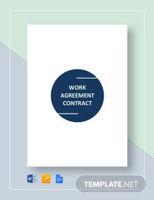 Work Agreement Contract Template