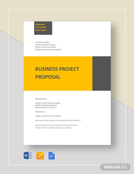 microsoft project proposal template