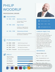 Free Car Driver Resume Template