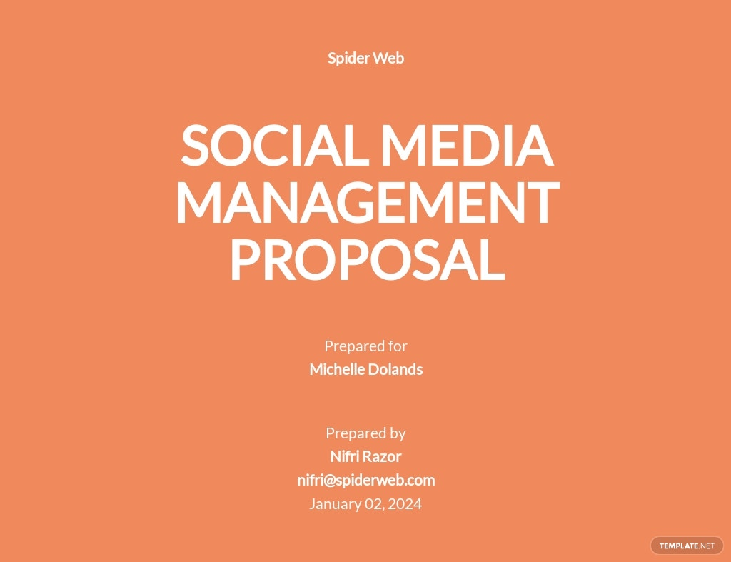 Social Media Management Proposal Template [Free PDF] - Google Docs, Word, Apple Pages