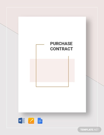 Purchase Contract Template
