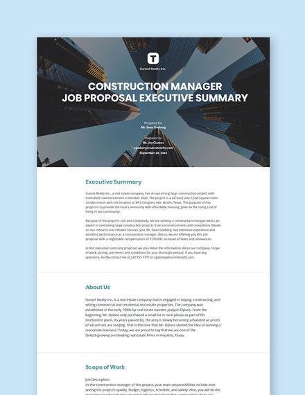 Executive Summary Proposal