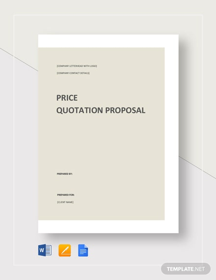Quotation Proposal Template