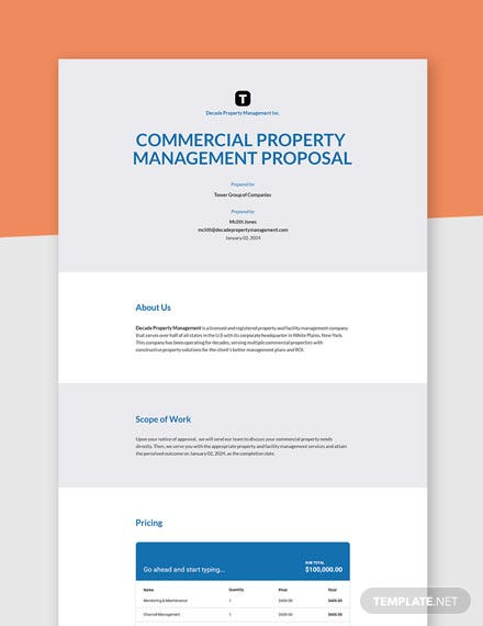 Property Management Proposal Template