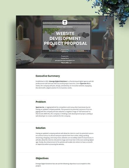Project Development Proposal Template